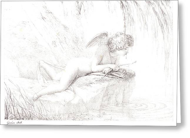 Pierre Guérin French, 1774 - 1833. Le Repos Du Monde Greeting Card by Litz Collection