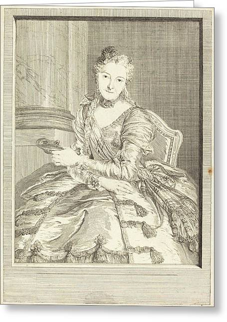 Pierre Louis De Surugue After Charles-antoine Coypel French Greeting Card