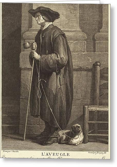Pierre Louis De Surugue After Jean Siméon Chardin French Greeting Card by Quint Lox