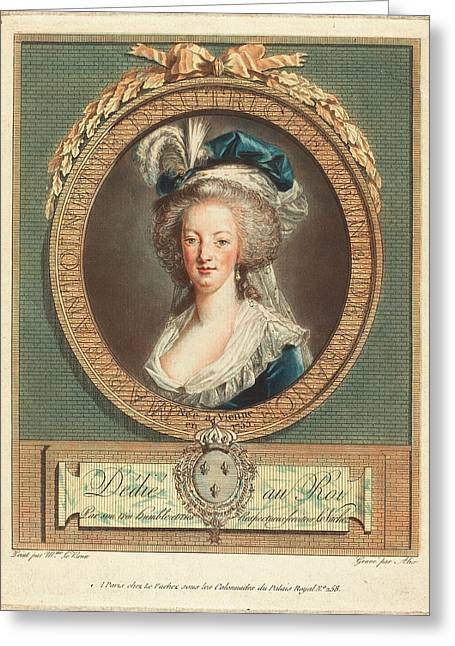 Pierre-michel Alix After Elisabeth-louise Vigée Le Brun Greeting Card by Quint Lox