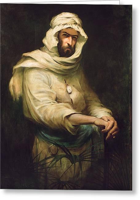 Pierre Savorgnan De Brazza 1852-1905 1886 Oil On Canvas Greeting Card