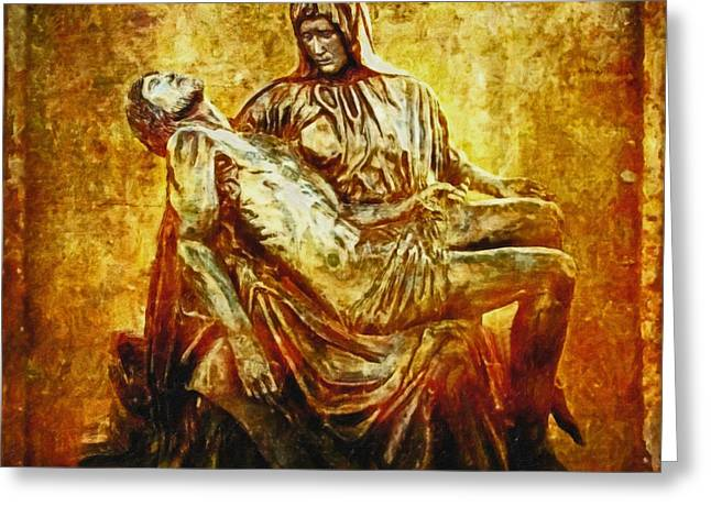 Pieta 2 Greeting Card