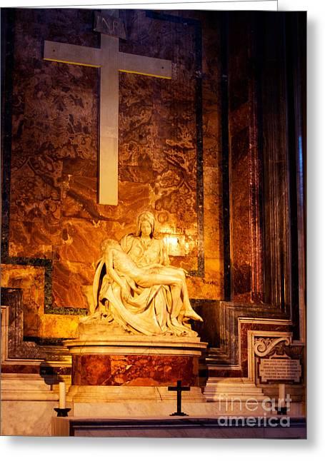 Pieta By Michelangelo Greeting Card