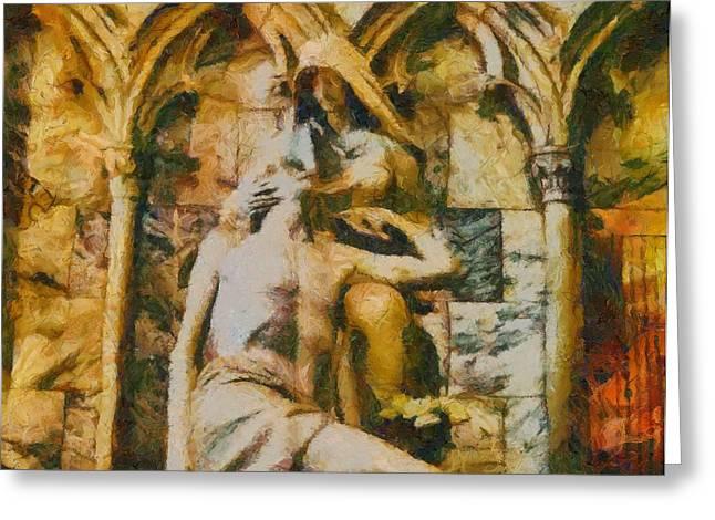 Pieta Masterpiece Greeting Card by Dan Sproul