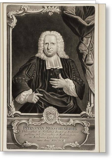 Pieter Van Musschenbroek Greeting Card by Gregory Tobias/chemical Heritage Foundation