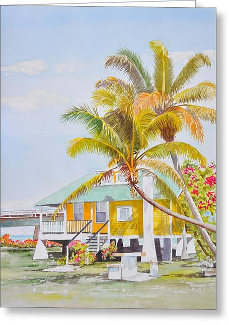 Pigeon Key - Home Greeting Card by Terry Arroyo Mulrooney