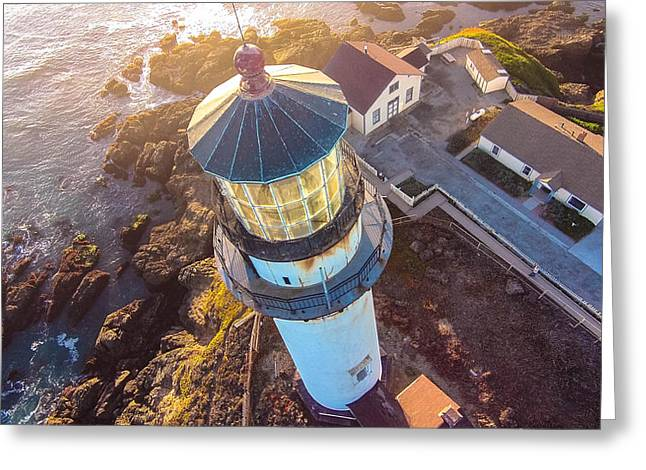 Pigeon Point Lighthouse 1p Greeting Card by David Junod