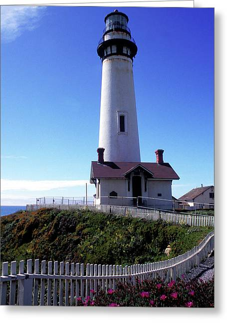 Pigeon Point Lighthouse 3 Greeting Card by Kathy Yates