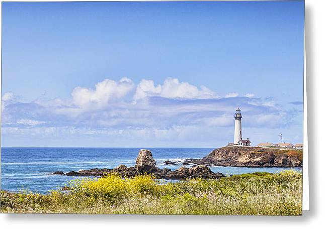 Pigeon Point Lighthouse California Greeting Card by Colin and Linda McKie