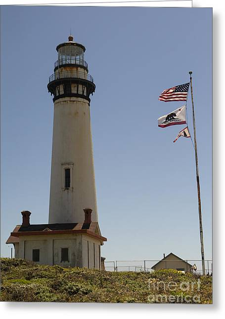 Pigeon Point Lighthouse In The Coast Of California Dsc1299 Greeting Card by Wingsdomain Art and Photography