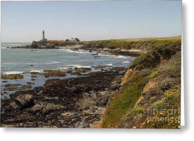 Pigeon Point Lighthouse In The Coast Of California Dsc1307 Greeting Card by Wingsdomain Art and Photography