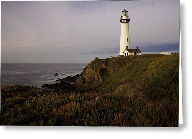 Pigeon Point Lighthouse Greeting Card by Jim Snyder