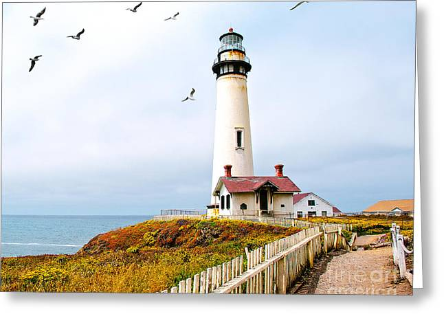 Greeting Card featuring the photograph Pigeon Point Lighthouse by Artist and Photographer Laura Wrede