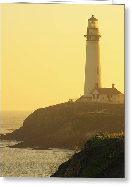 Pigeon Point Lighthouse, Santa Cruz Greeting Card by Tom Norring