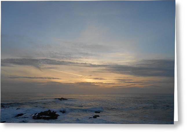 Pigeon Point Sunset Greeting Card
