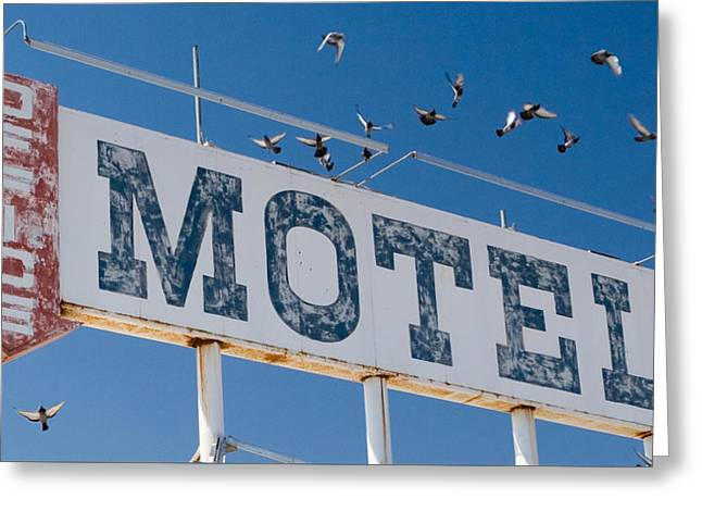 Pigeon Roost Motel Sign Greeting Card