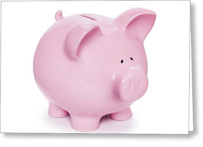 Piggy Bank  Greeting Card by Colin and Linda McKie