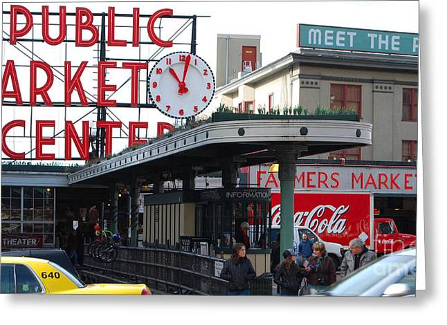 Pike Place Market Center Greeting Card