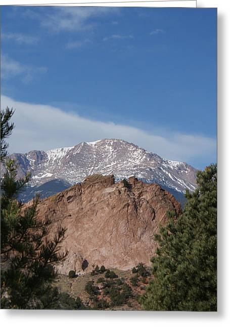 Pikes Peak 2 Greeting Card by Ernie Echols