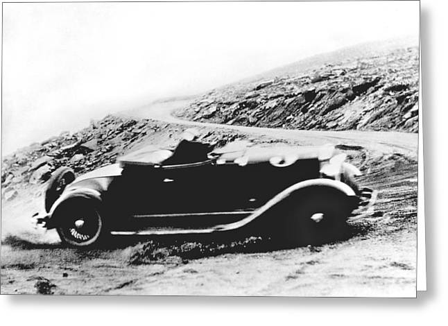 Pikes Peak Auto Race Greeting Card by Underwood Archives