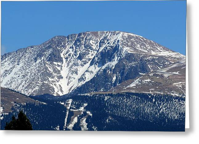 Pikes Peak Close-up Greeting Card