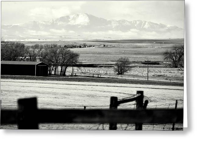 Pikes Peak From Ramah Greeting Card by Clarice  Lakota