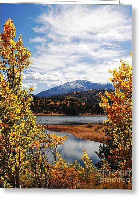 Pikes Peak In Autumn Greeting Card