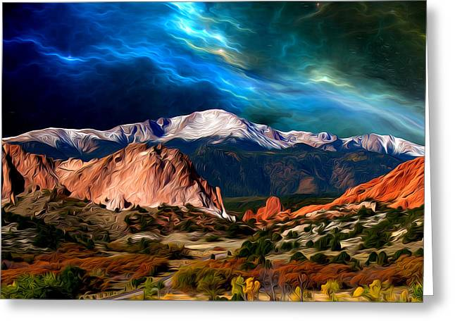 Pikes Peak Feelin' It... Greeting Card by John Hoffman