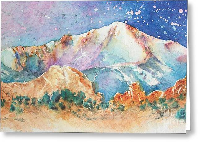 Pikes Peak Over The Garden Of The Gods Greeting Card