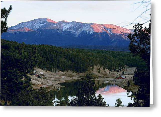 Pikes Peak Sunset Greeting Card