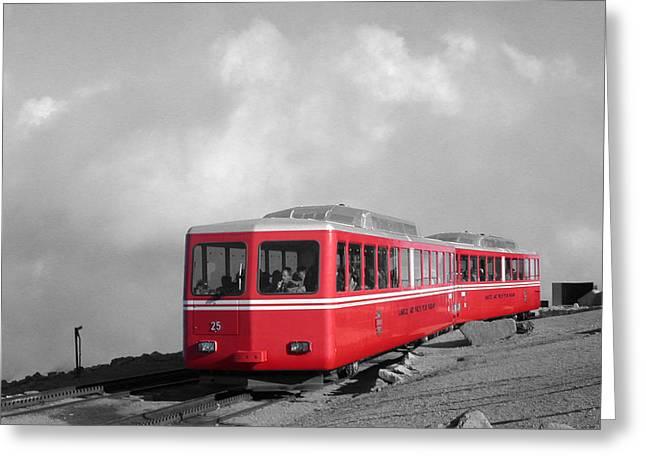 Pikes Peak Train Greeting Card