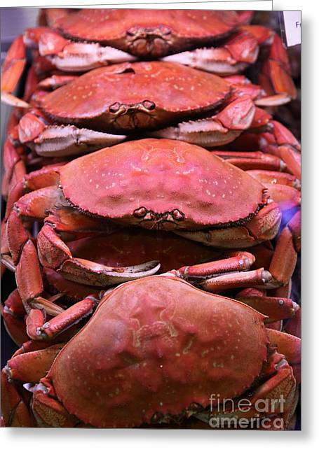 Pile Of Fresh San Francisco Dungeness Crabs - 5d20693 Greeting Card