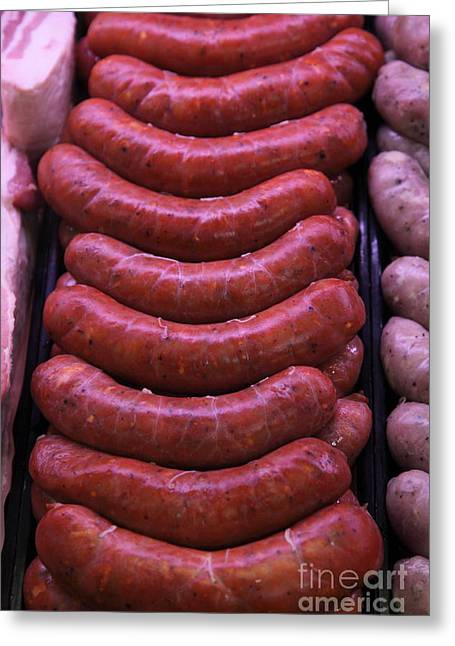 Pile Of Sausages - 5d20694 Greeting Card