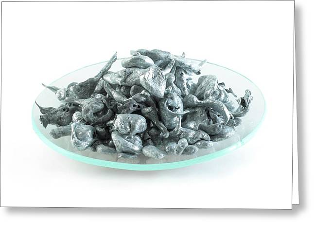 Pile Of Zinc Granules Greeting Card by Science Photo Library