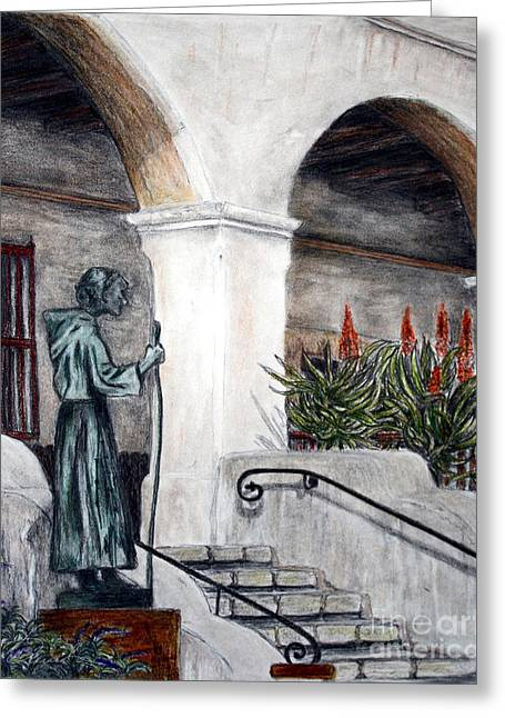 Pilgrim From The Past Greeting Card by Danuta Bennett