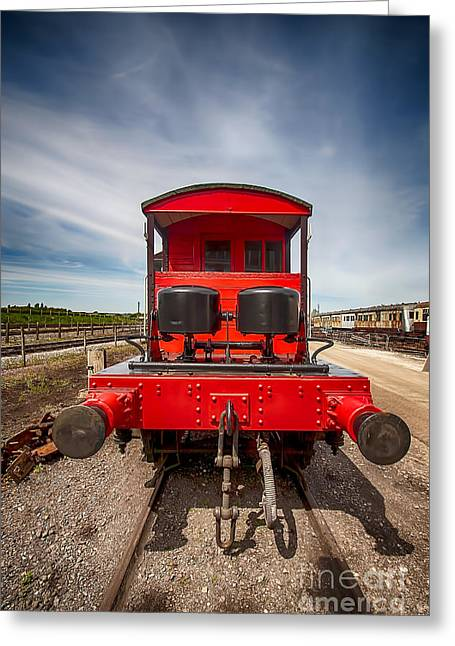 Pill Box Brake Van 2 Greeting Card by Chris Thaxter