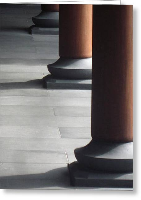 Pillars Greeting Card by Cherie Sexsmith