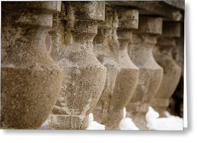 Greeting Card featuring the photograph Pillars by Courtney Webster