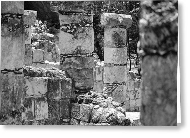 Greeting Card featuring the photograph Pillars In Disarray by Kirt Tisdale