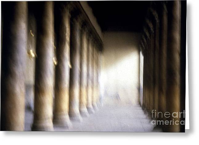 Pillars In Israel Greeting Card by Scott Shaw