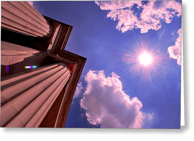 Pillars In The Sun Greeting Card by Matt Harang