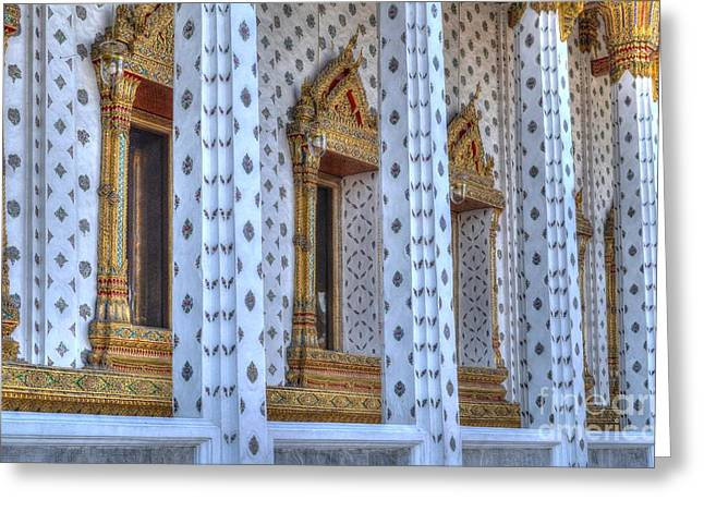 Pillars Greeting Card by Michelle Meenawong