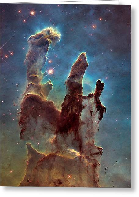 Pillars Of Creation Greeting Card by Celestial Images