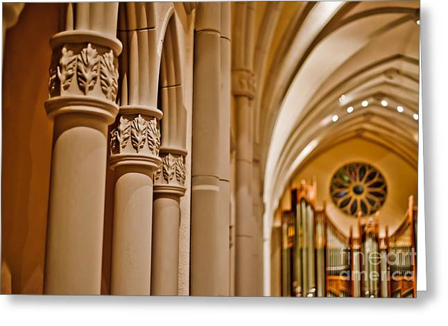 Pillars Of Faith Greeting Card by Will Cardoso