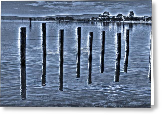 pillars on the Bay Greeting Card