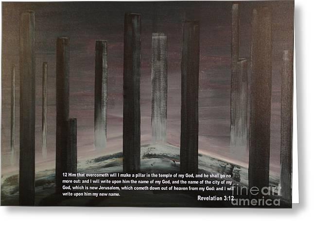Pillars Greeting Card by Wayne Cantrell