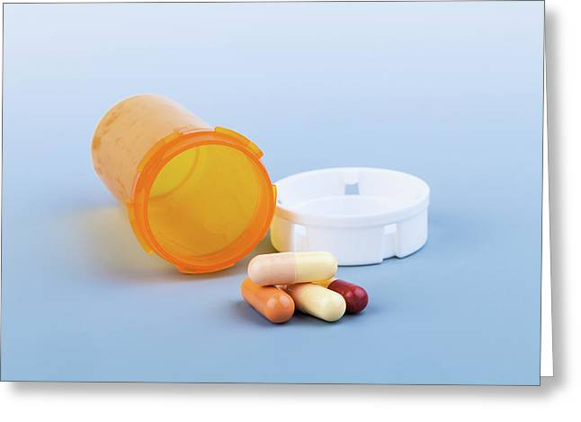 Pills And Pill Bottle Greeting Card