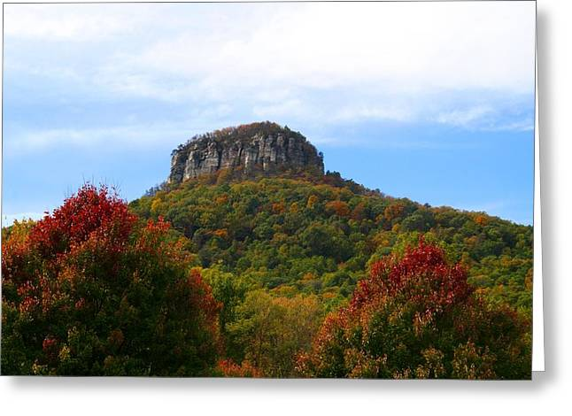 Pilot Mountain From 52 Greeting Card