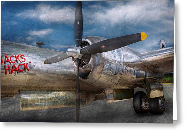 Pilot - Plane - The B-29 Superfortress Greeting Card by Mike Savad