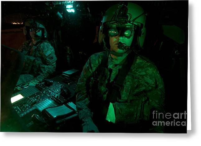 Pilots Equipped With Night Vision Greeting Card by Terry Moore